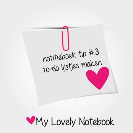 notitieboek tip #3: to-do lijstjes maken
