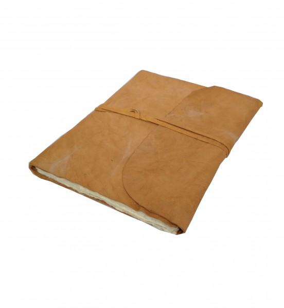Kreukel leren notitieboek A5