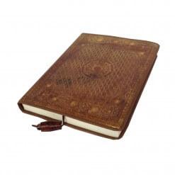 Buffel leren notitieboekje met gouden accenten