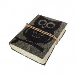 Canvas notitieboek met uil