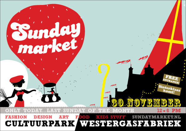 Sunday Market Amsterdam 30 november