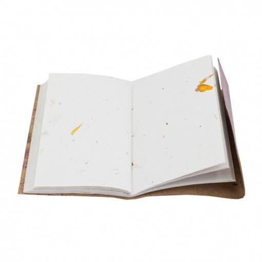 Notitieboek leer paars