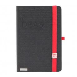Lanybook notitieboek Idea Factory zwart met rood