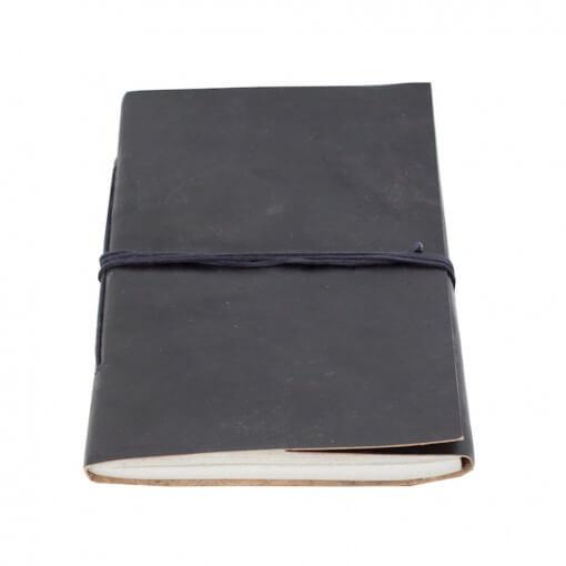 Notitieboek leer zwart