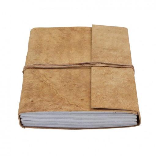 Notitieboek buffelleer extra large