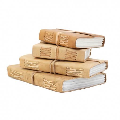 notitieboek buffelleer set