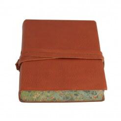 Leren notitieboek Chianti bruin