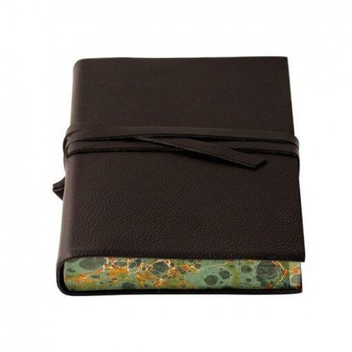 Leren notitieboek Chianti zwart