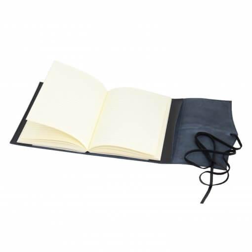 Leren notitieboek navulbaar Amalfi zwart