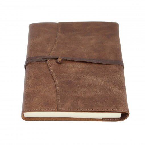 Leren notitieboek navulbaar Amalfi chocolate