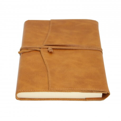 Leren notitieboek navulbaar Amalfi bruin
