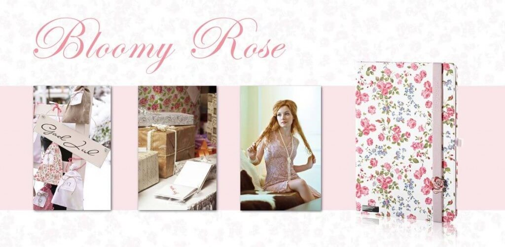 Lanybook notitieboek Bloomy rose
