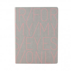 Nuuna notitieboek For my eyes only roze