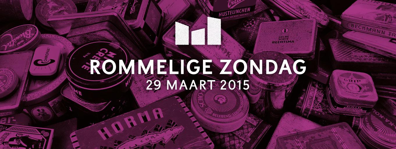 De Rommelige Zondag Amsterdam 29 maart 2015