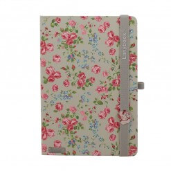 Lanybook notitieboek Bloomy rose grijs