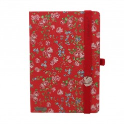 Lanybook notitieboek Bloomy rose rood
