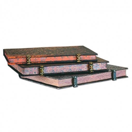 Paperblanks notitieboek Baroque Ventaglio Marrone Grande