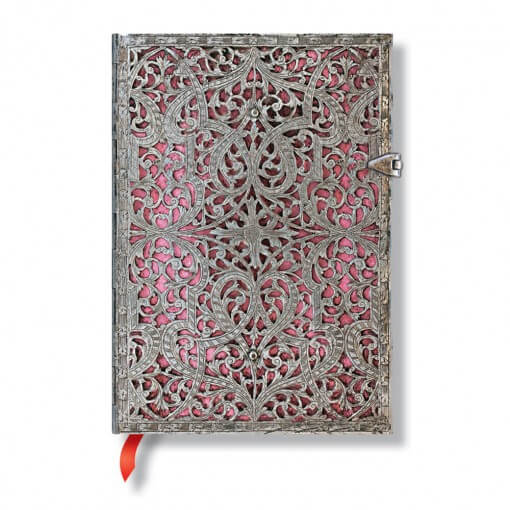 Paperblanks notitieboek Silver Filigree Blush Pink