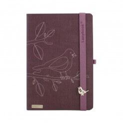 Lanybook baby bird notitieboek paars
