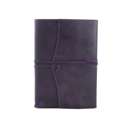 Leren notitieboek navulbaar Amalfi aubergine