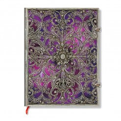 Paperblanks notitieboek Silver Filigree Aubergine Ultra