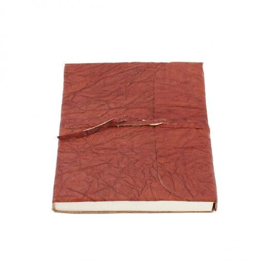 bruin kreukel leren notitieboek