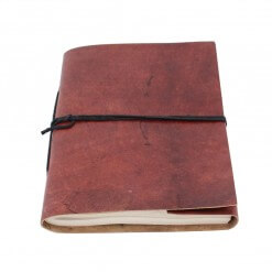 Notitieboek leer bruin