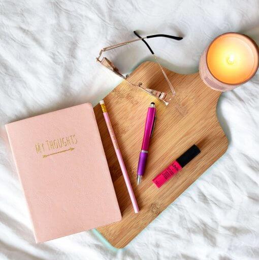 Notitieboek My Thoughts roze