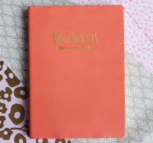 Notitieboek My Thoughts koraal