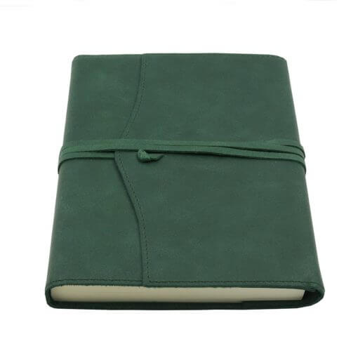 Leren notitieboek navulbaar Amalfi groen