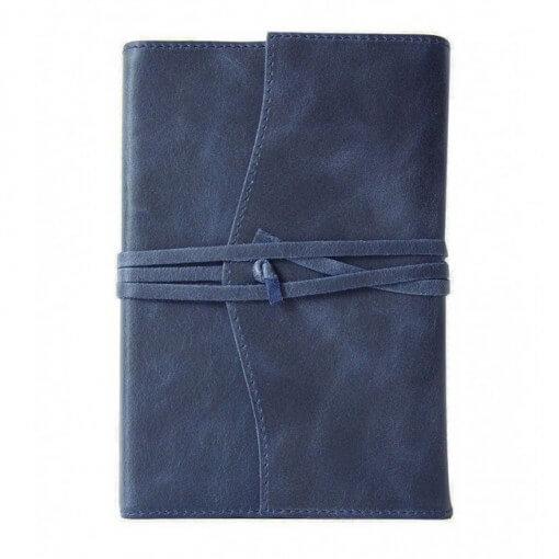 Leren notitieboek navulbaar Amalfi blauw