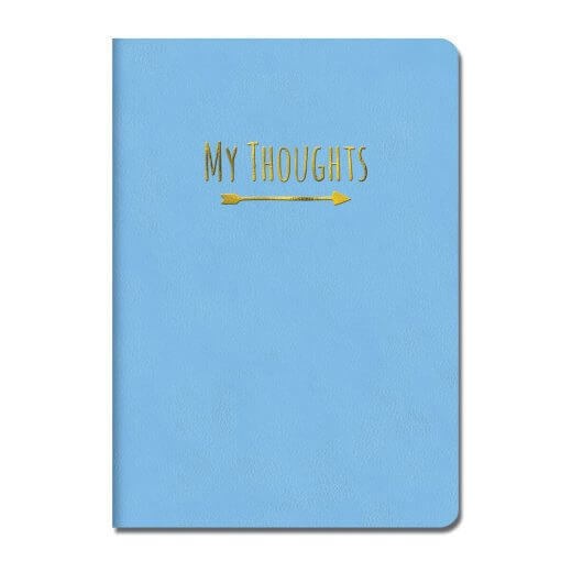 Notitieboek My thoughts blauw