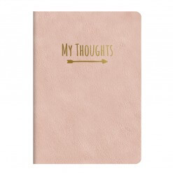 Notitieboek My Thoughts roze
