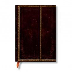 Paperblanks notitieboek Old Leather Black Moroccan midi