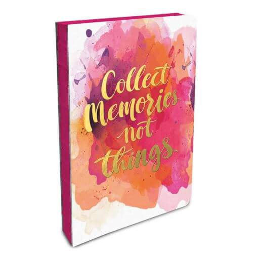notitieboek collect memories not things