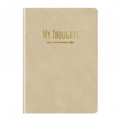 Notitieboek My Thoughts goud