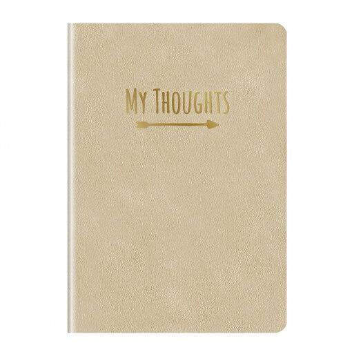 Notitieboek my thoughts goud