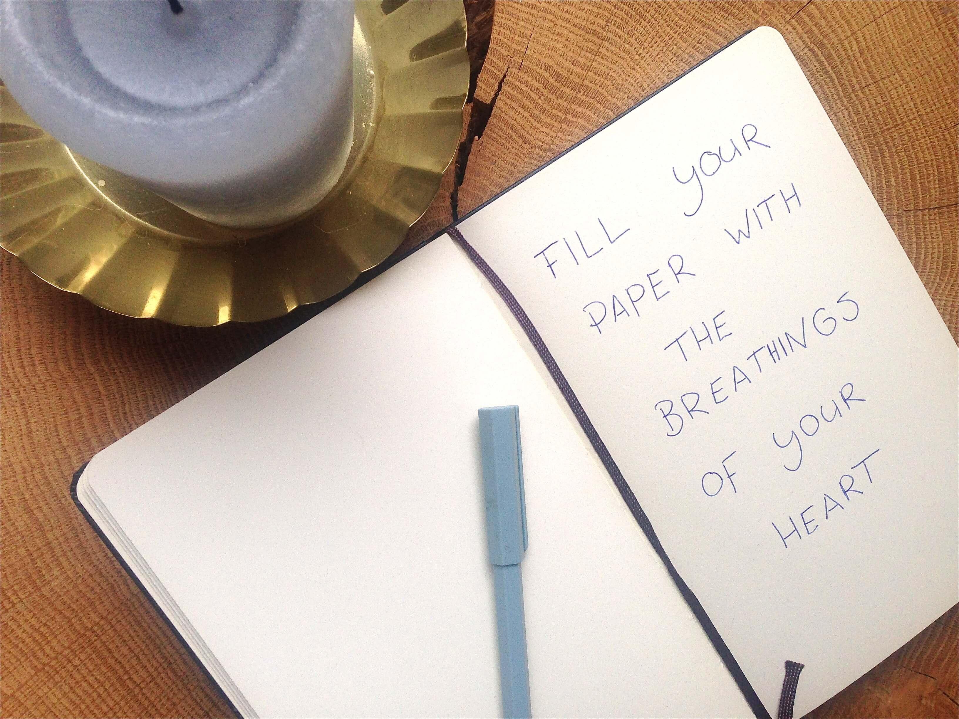 Schrijf vanuit je hart