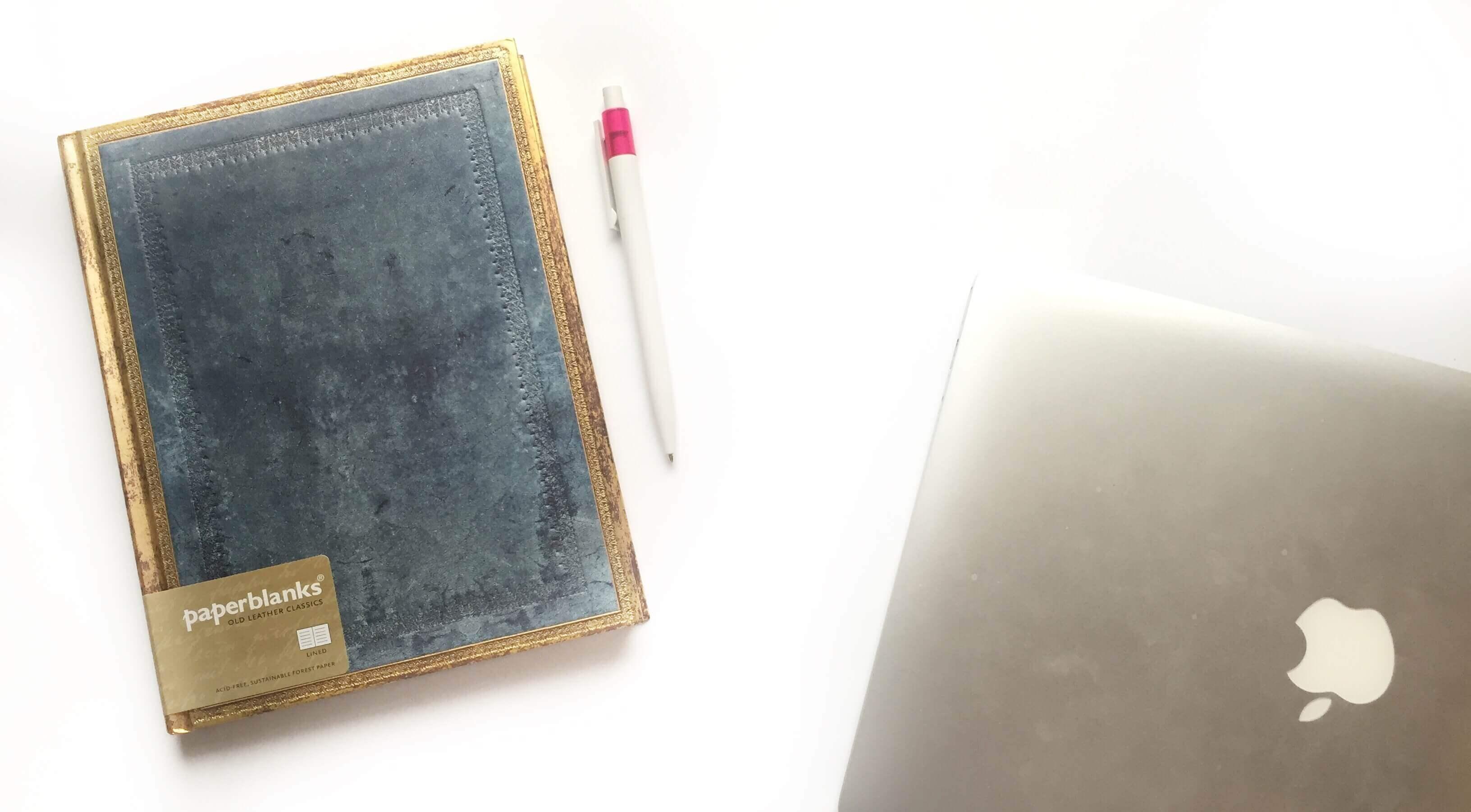 Het gevoel van een nieuw notitieboek