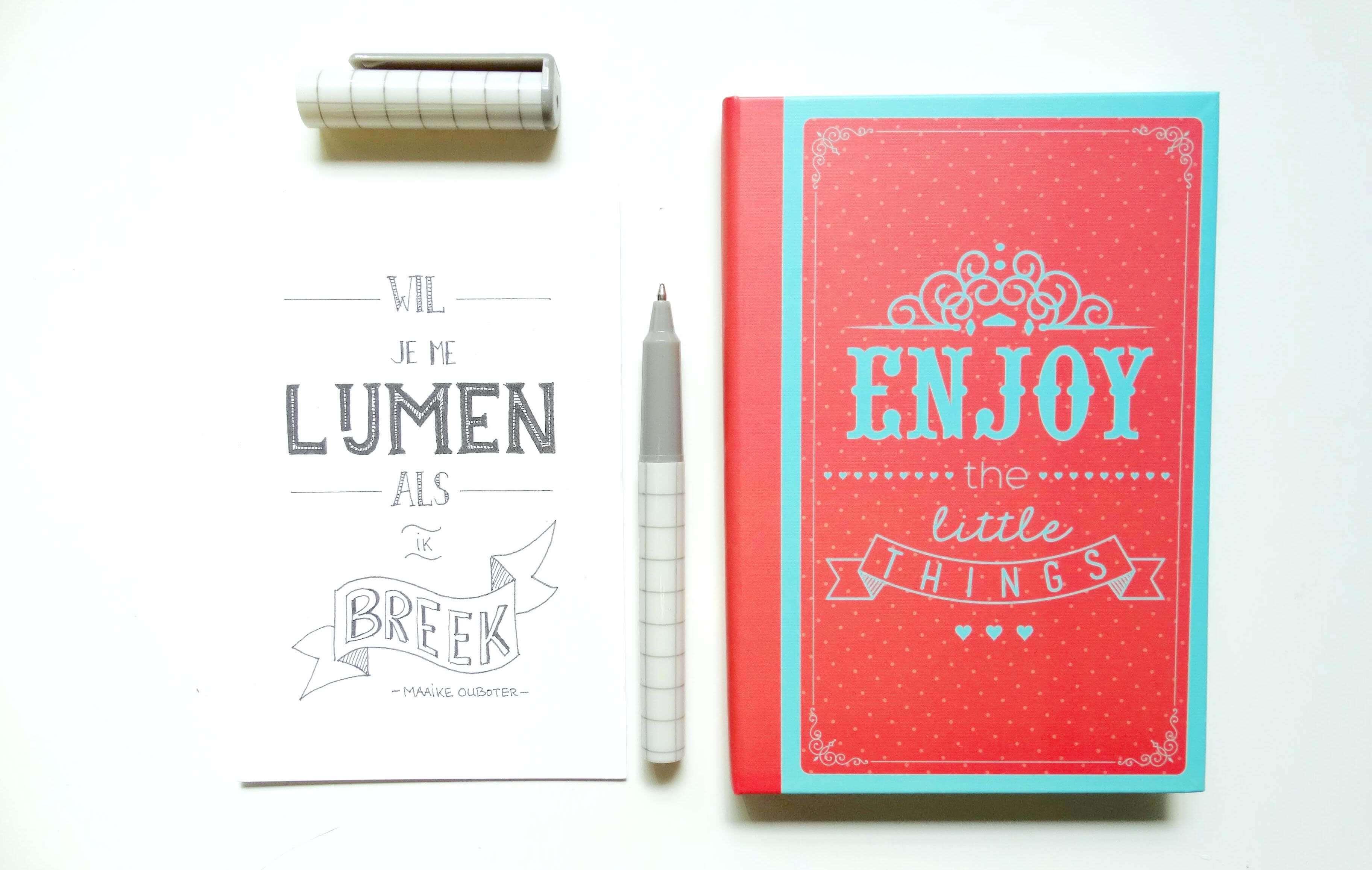 Mooie quotes verzamelen in je notitieboek