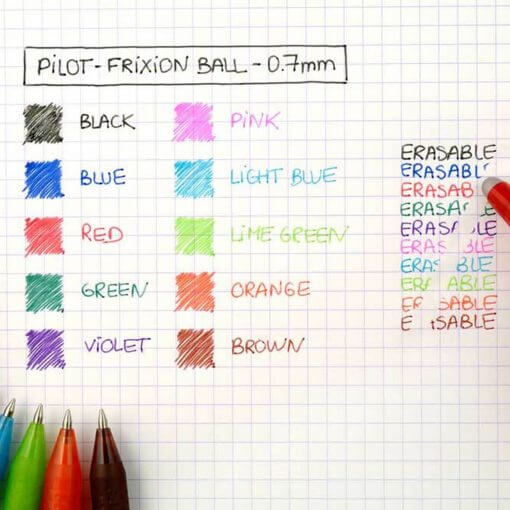 Pilot FriXion kleuren