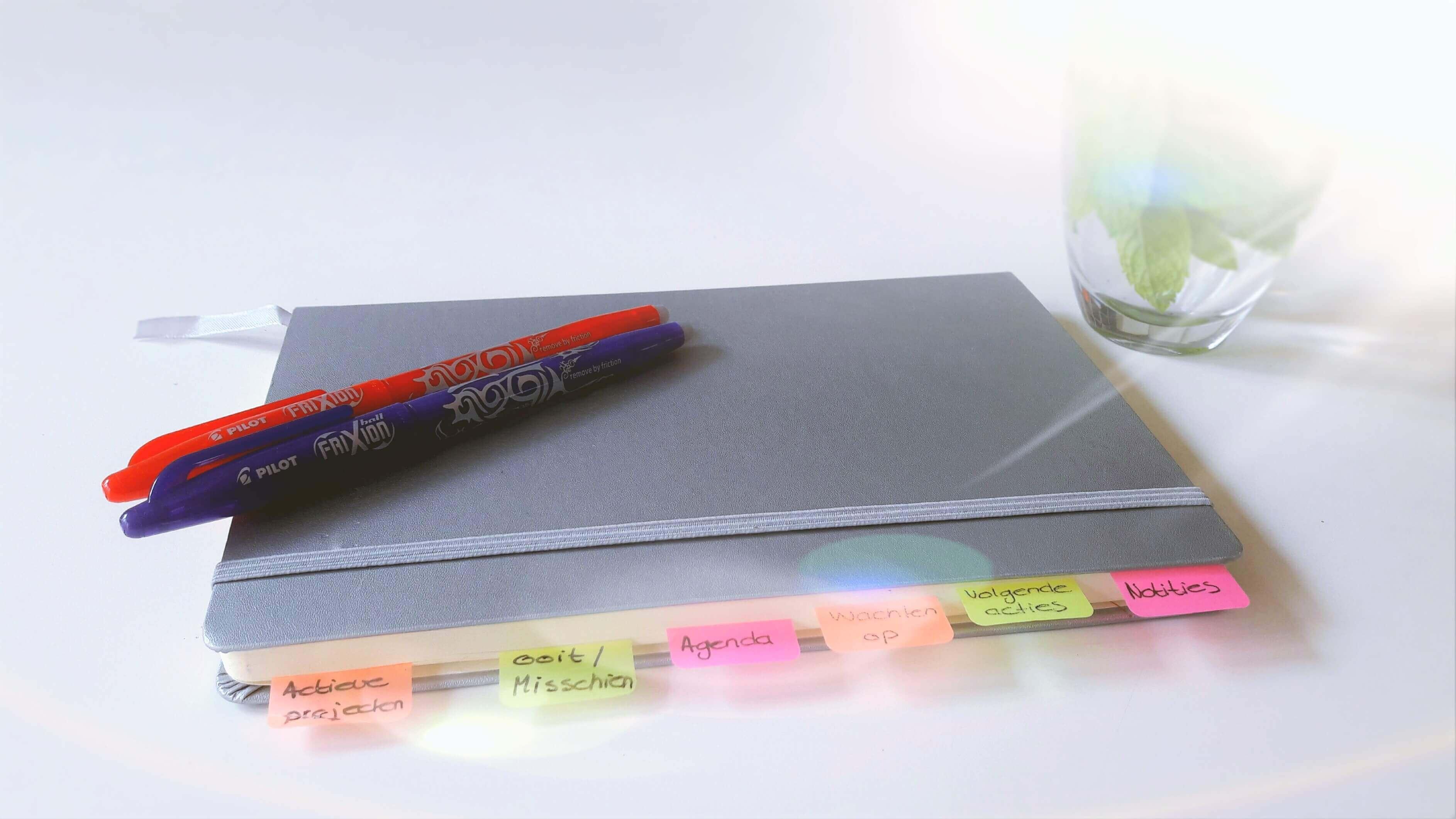 schep orde in de chaos met je notitieboek