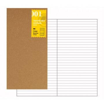 Midori Traveler's Notebook navulling lijntjes 001