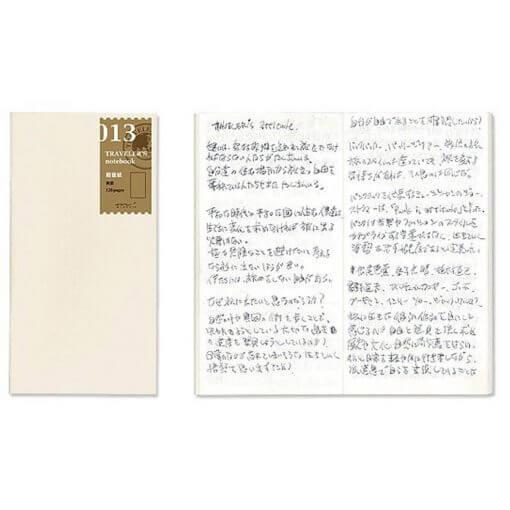 Midori Traveler's Notebook navulling lichtgewicht papier 013