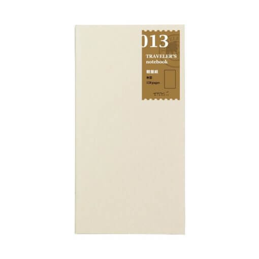 Midori Traveler's notebook navulling 013 light weight b