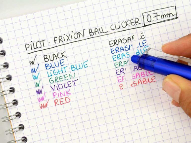 Pilot FriXion Ball clicker pen
