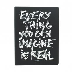 Nuuna notitieboek Everything you can imagine is real zwart