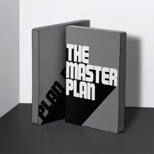 Nuuna notitieboek The masterplan zwart wit