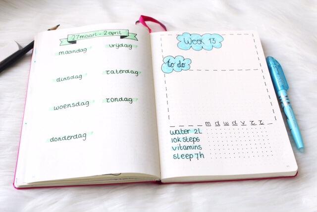 Een tracker bijhouden in je bullet journal