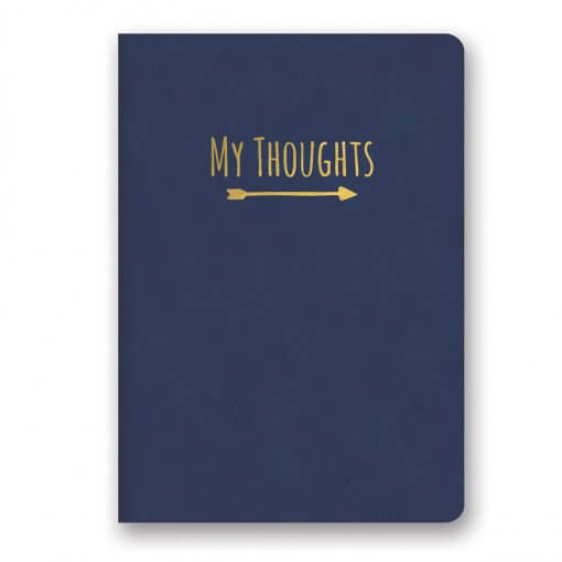 My Thoughts notitieboek donkerblauw